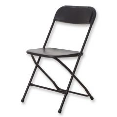 Klapstoel zwart frame zonder beschermviltjes
