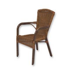 Rotan terras stoel Bamboelook zonder beschermviltjes