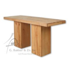 Statafel blank hout 220 x 80 x 110 cm