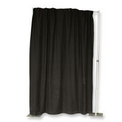 Pipe & Drape doek zwart (b) 300 x (h) 300 cm