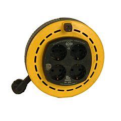 Haspel 10 mtr. 4 stopcontacten (binnen gebruik)
