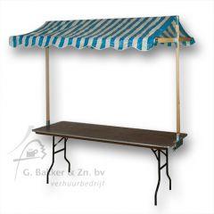 Party/markt kraam ocean 200 x 80 cm. houten opbouw