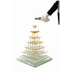 Plateau driehoek tbv champagnetoren 84 coupes