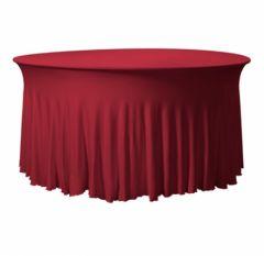 Combihoes Bordeaux rood voor tafel Ø 183 cm