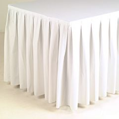 Buffetrok wit 470 cm x 72 cm incl. klittenband