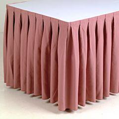 Buffetrok oud roze geplooid 400 x 72 cm incl. klittenband