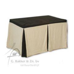 Combihoes zwart beige 120 x 80 cm
