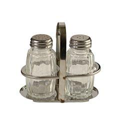 Peper en Zoutstel glas in houder