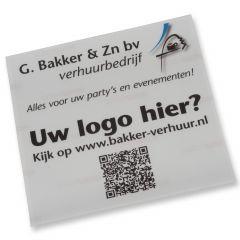 Sticker 30 x 30 cm. met uw eigen logo
