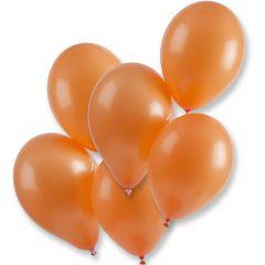 Ballonnen oranje geschikt voor helium (100 stuks)