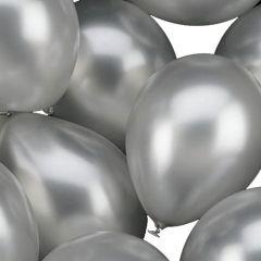 Ballonnen ZILVER 25 cm. geschikt voor helium (100 stuks)
