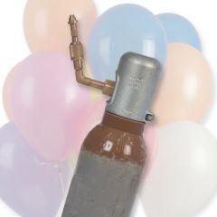 Heliumtank 10 liter met vulkraan