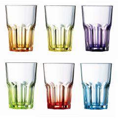 Waterglas gekleurd 30 cl (6 stuks)